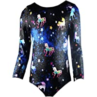 Midout Tollder Girls Fancy Cute Gymnastics Leotards One-Piece Sparkly Biketard for Kids 2-9T