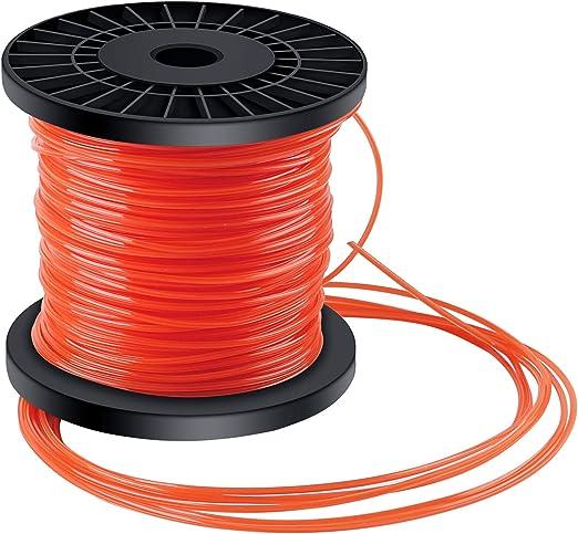 Forever Speed Hilo desbrozadora Nylon Trimmer Strimmer Line Cable String Cable para línea de Hierba 5-Borde Diámetro 2.4 mm x 100 Metros - Rojo Anaranjado: Amazon.es: Jardín