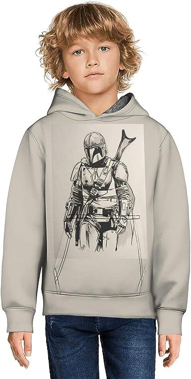 Mandalorian Hoodie Boys Kids The Child Hooded Drawstring Pullover Sweatshirt