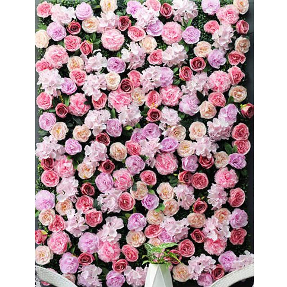 YI GAO Simulation Flower Wall Background Wall Decoration Rose Net Red Wall Decoration Plant Wall Fake Silk Flower Wall Wedding Window Decoration Wall (Multiple Colors Optional) @ (Color : F) by YI GAO