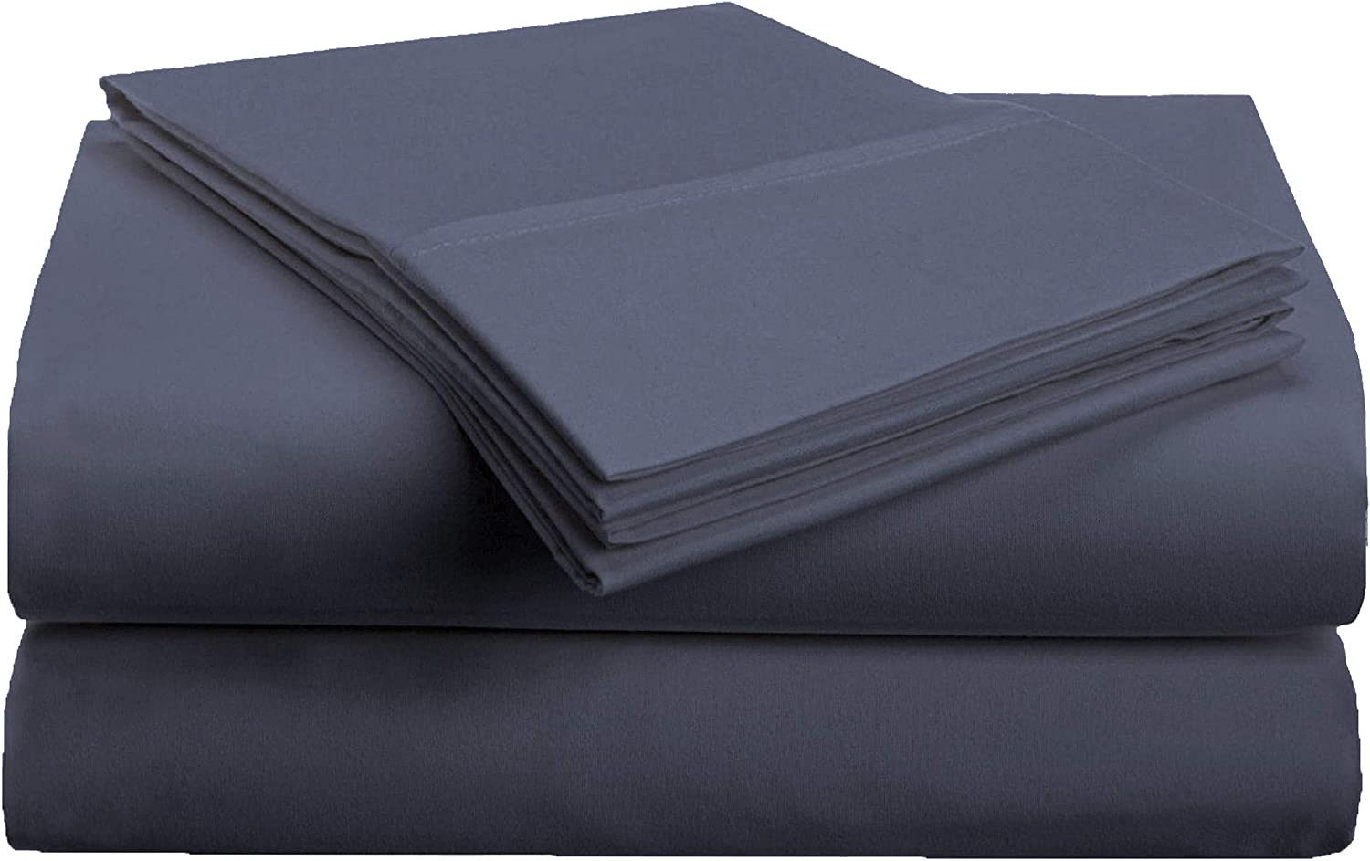 Superior 1500 Series Premium Quality 100% Brushed Soft Microfiber 3-Piece Luxury Deep Pocket Cooling Bed Sheet Set, Hypoallergenic, Wrinkle and Stain Resistant - Twin, Navy Blue