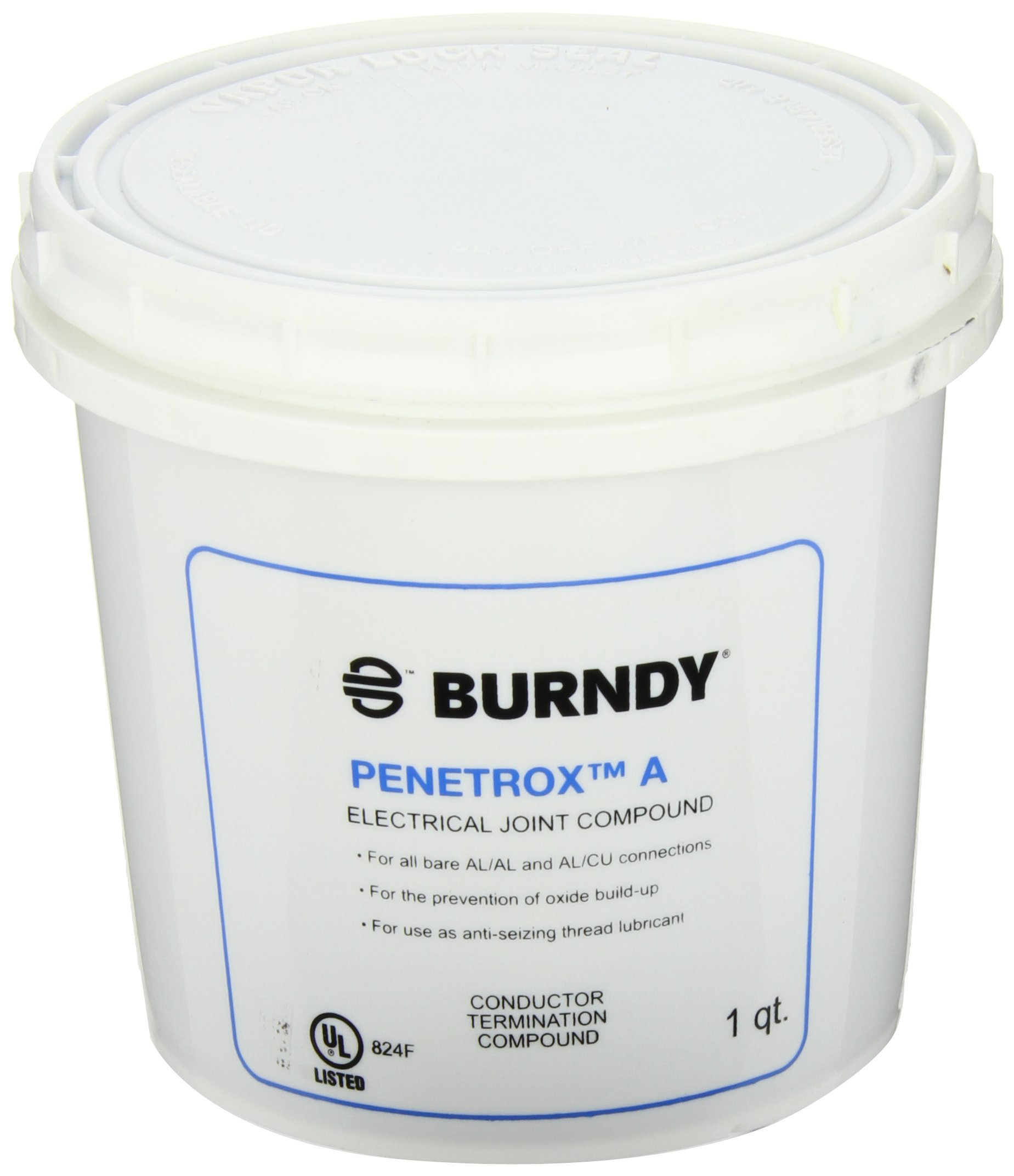 Burndy PEN A-QT Oxide-Inhibiting Joint Compounds PENETROX A, 1qt Container Size, Plastic Tub Container Type