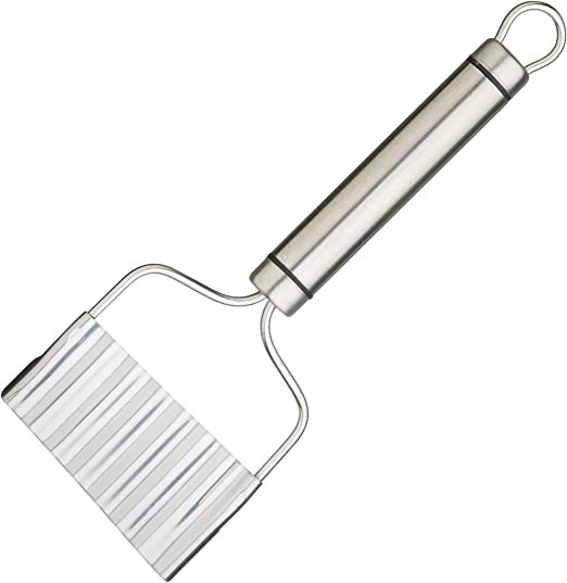 """21 x 8 cm 8.5/"""" Kitchen Craft Professional Stainless Steel Crinkle Chip Cutter"""
