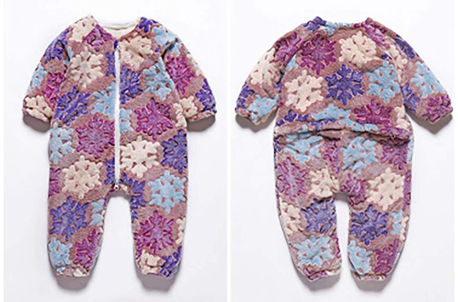 My home Hooded Baby Romper Autumn Winter Flannel Jumpsuits