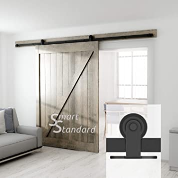 10ft Heavy Duty Sturdy Sliding Barn Door Hardware Kit   Super Smoothly And  Quietly   Simple