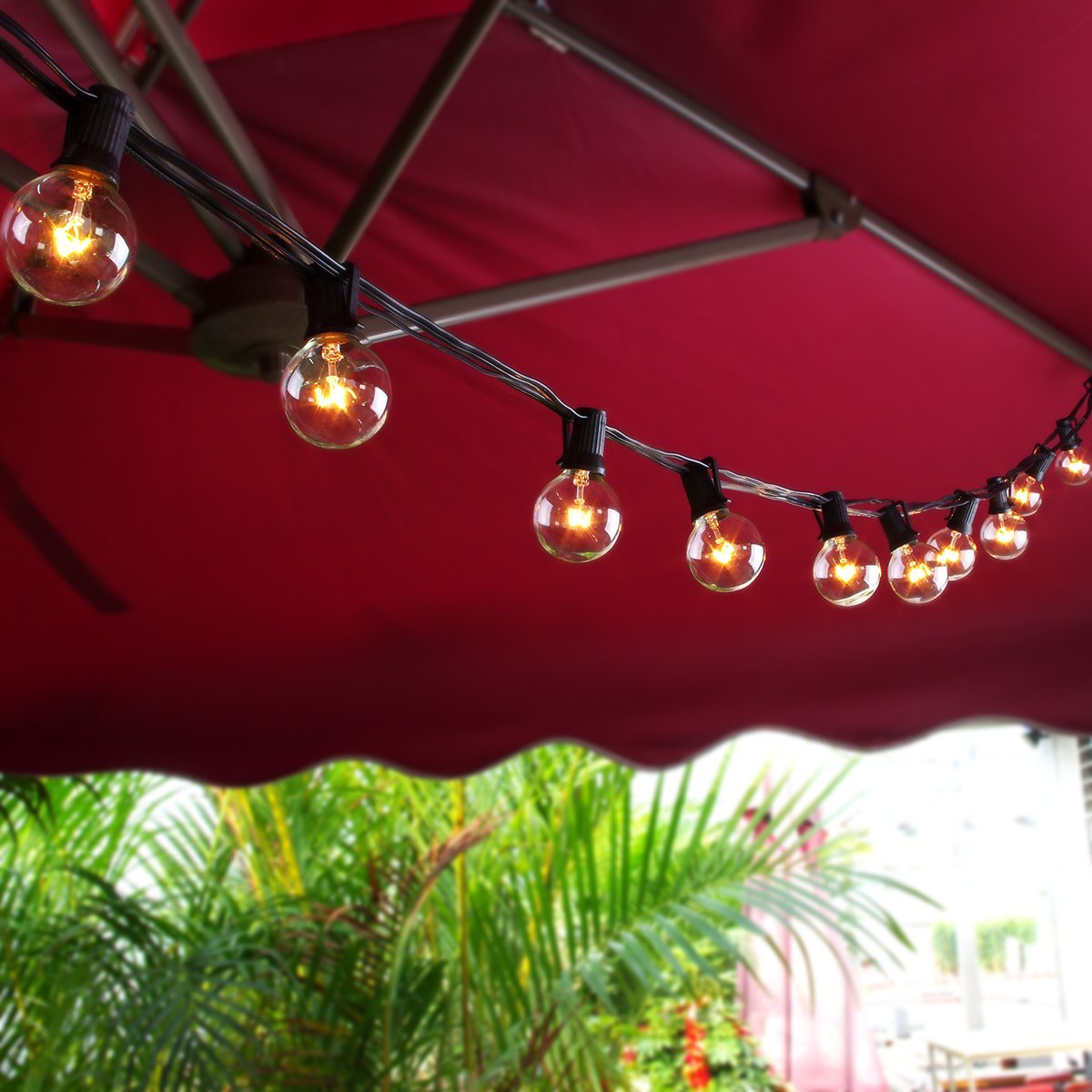 String Lights G40 : Zitrades Globe String Lights with G40 Bulbs UL Listed 25ft Outdoor String Lights eBay
