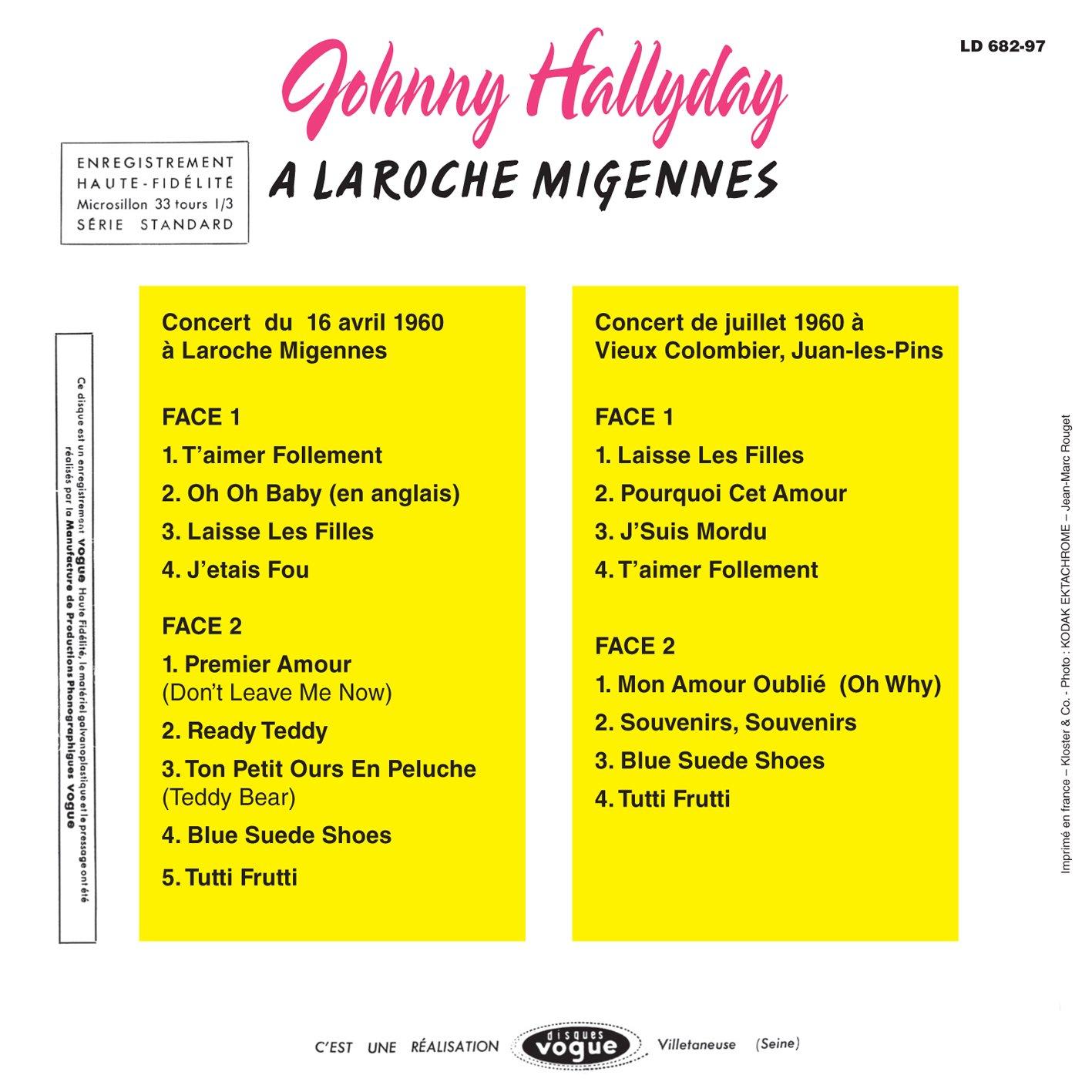 JOHNNY HALLYDAY - Laroche Migennes Et Au Vieux Colombier - Amazon.com Music