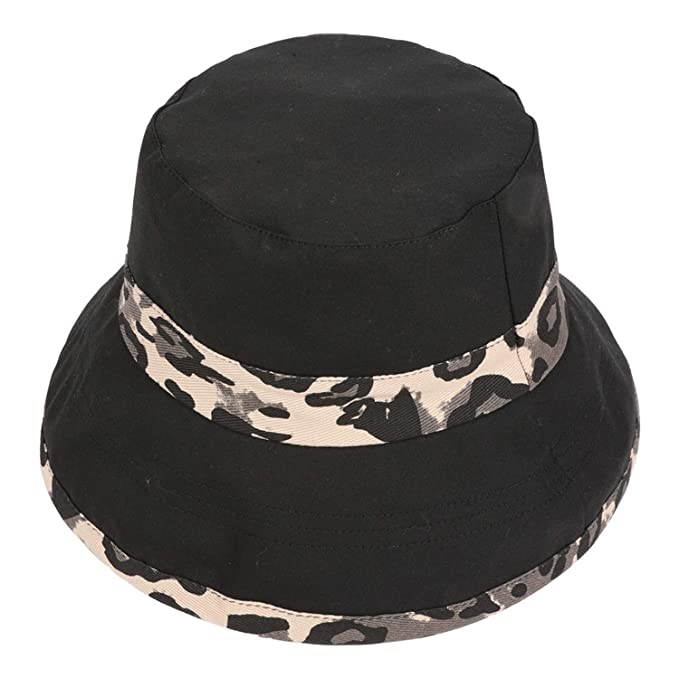 5675efabfe3 Lady Summer Travel Bohemian Beach Hats Sun Hat Leopard Basin Caps Women s  Sun Hat   3