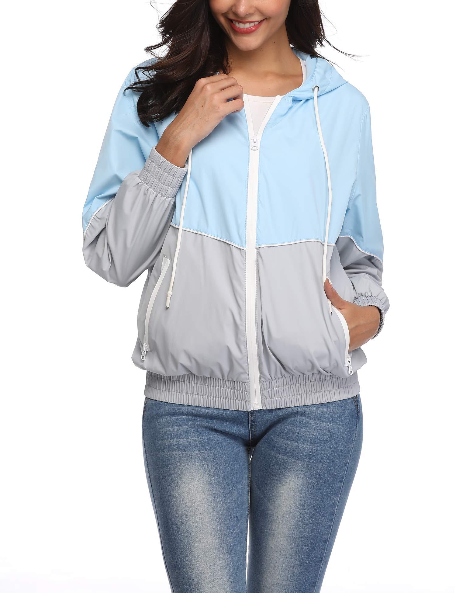 Rain Jacket for Women Waterproof with Hood Lightweight Outdoor Research Travel