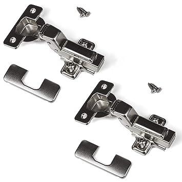 2x Topfband Türband Automatik-Scharnier Clip 110° Schließautomatik /& Dämpfung
