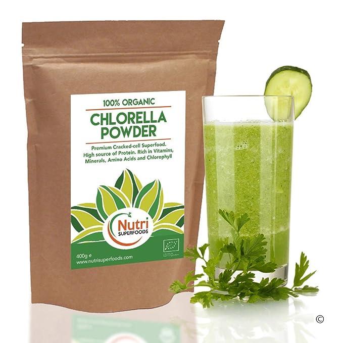 Chlorella En Polvo, Pared Celular Rota, Orgánica, Rica en Proteínas Vegetales, Aumenta