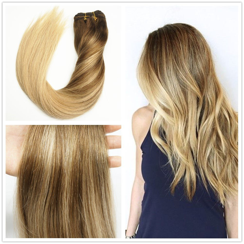 Amazon Stella Reina Sew In Hair Weave Subtle Ombre Color 418