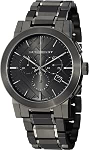 Burberry Men's BU9354 Large Check Gray Ion Plated Stainless Steel Watch