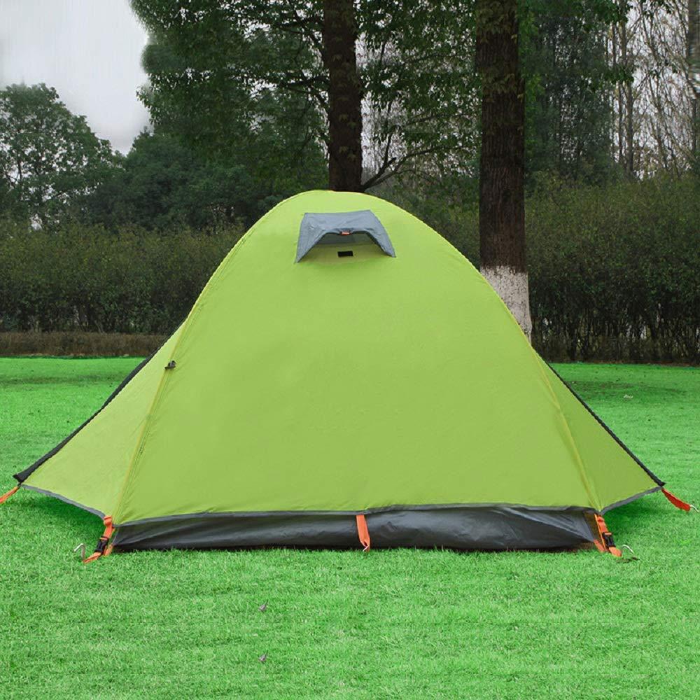 SHIJIAN 2人ポップアップテント、家族のキャンプテント、バックパックテント、自動ポップアップビーチテントインスタントポータブルクイックカバナサンシェルター、防水、換気と耐久性  緑 B07QKFDK8D