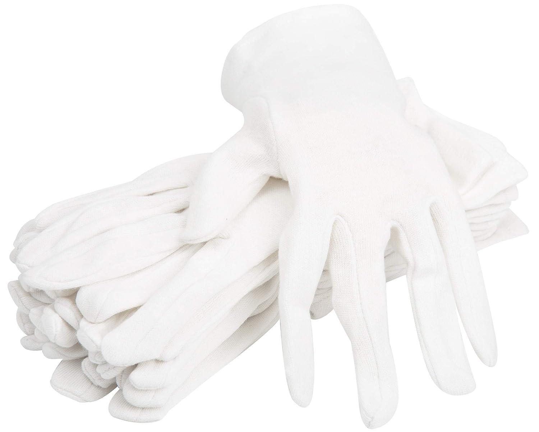 100% Organic Cotton Moisturizing Eczema Gloves for Dry Sensitive Skin - 6 Pairs : Beauty