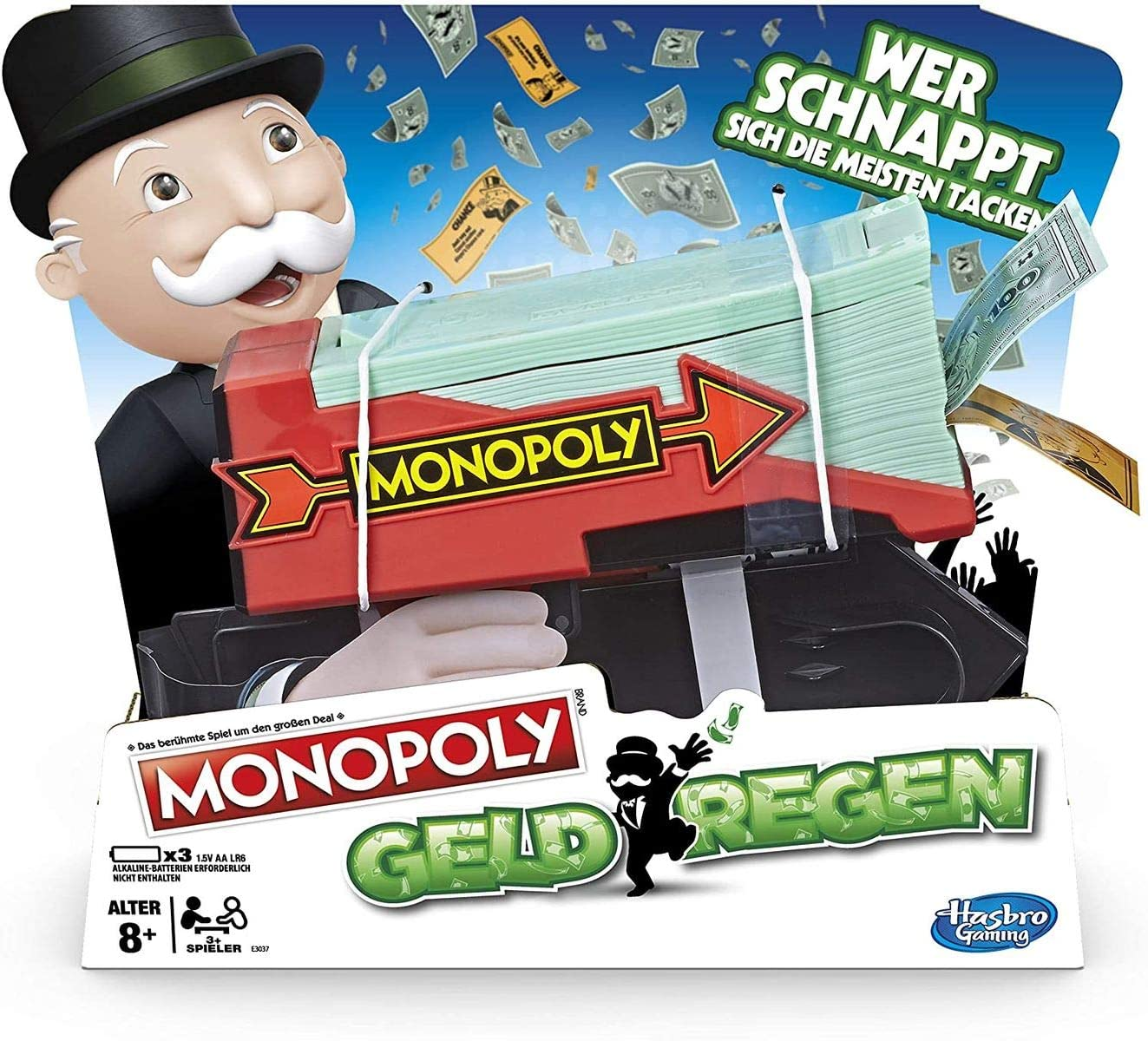 Hasbro Monopoly Cash Grab Game Estuche de Juego - Juegos y Juguetes de Habilidad/Activos (Estuche de Juego, Negro, Rojo, De plástico, 8 año(s), Adultos y niños, Niño/niña): Amazon.es: Juguetes y juegos