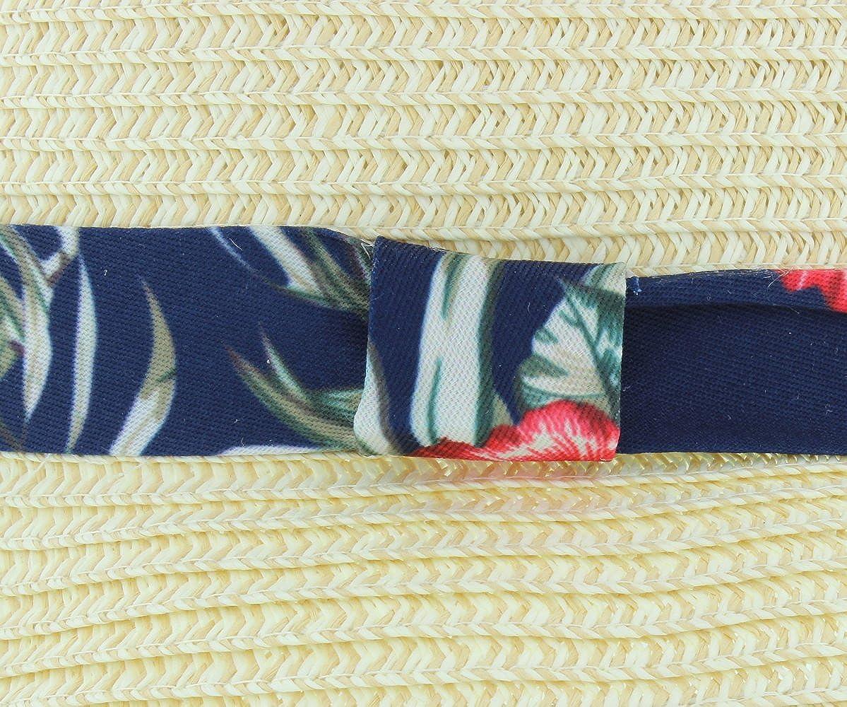 The Hat Company Paglia Estiva di Maiale con Fascia con Stampa Hawaiana