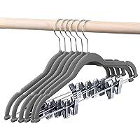 HOUSE DAY Velvet Skirt Hangers - Pack of 24 - Velvet Hangers with Clips Ultra Thin Non Slip Velvet Pants Hangers Space…
