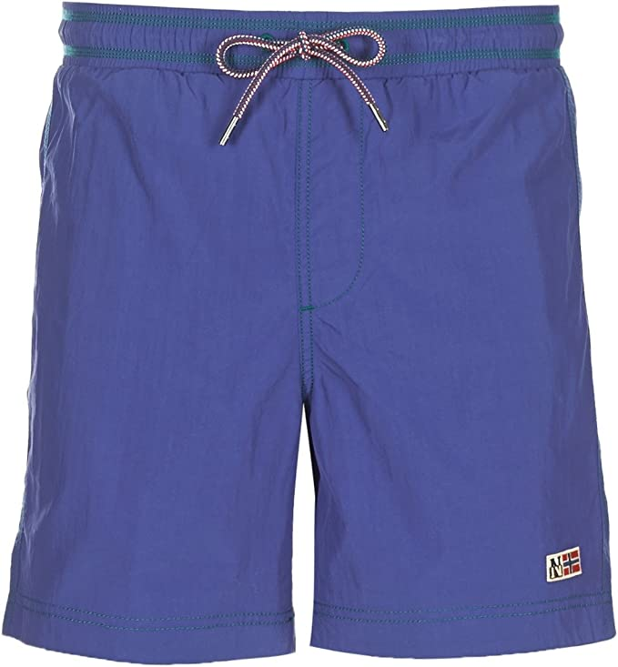 TALLA S. Napapijri Swimming Trunk IN Nylon Royal Blue, Hombre.