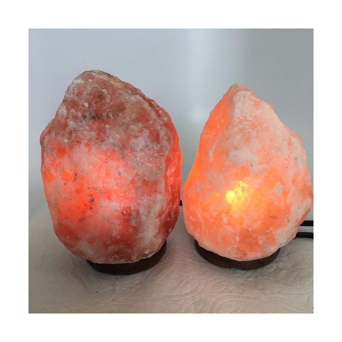 2x Himalaya Natural Handcraft Rough Raw Crystal Salt Lamp, 6.5''-7.25'' Tall,XL126