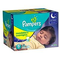 Pampers Overnight, Unisex, Talla 6, Pañales, 44 Piezas