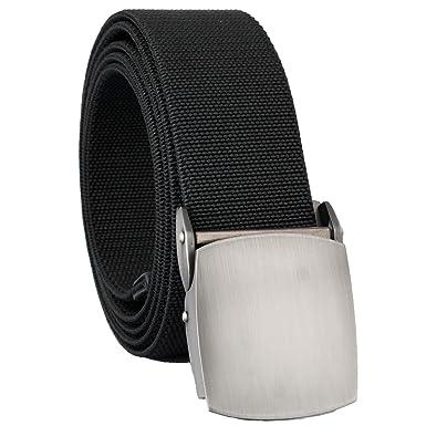 b25f50c72214b5 mookaitedecor Unisex Gürtel Elastischer Nylon Belt für Herren und Damen mit  Automatisch Schnalle, 01-