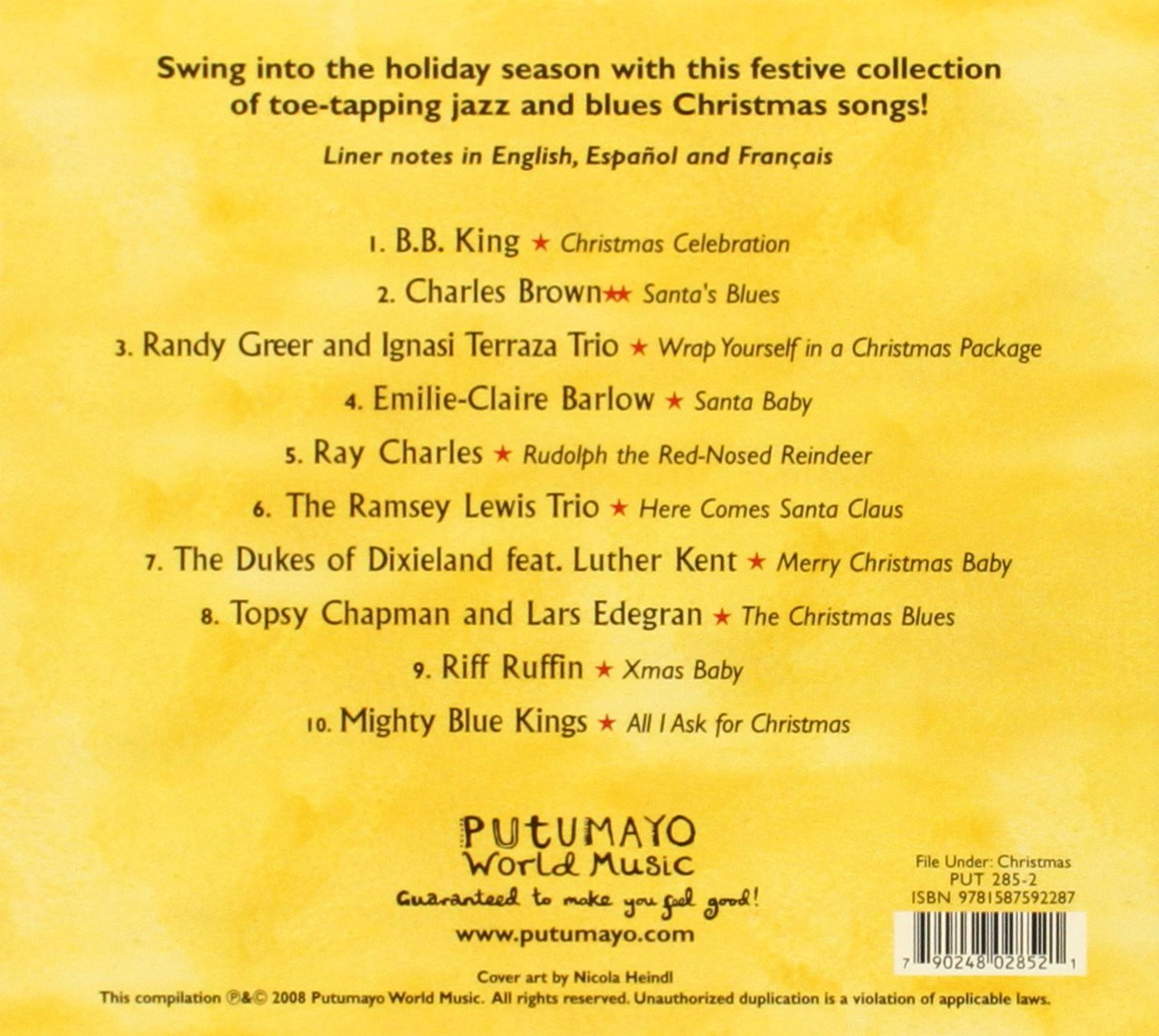 putumayo presents jazz blues christmas amazoncom music - Blues Christmas Songs