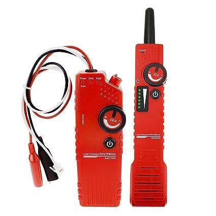 Underground Cable Tracker Detector Tester para bajo voltaje con función de polaridad, Anti-jamming