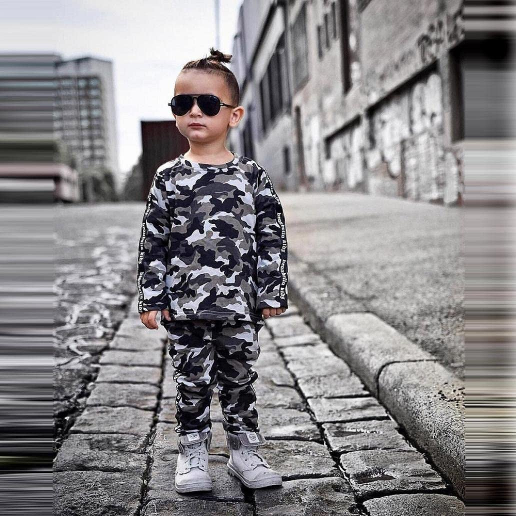 KaiCran Baby Outfits Set,Baby Boy Girl Autumn Handsome Clothing Suit Camouflage T-Shirt Tops+Pants Outfits Set