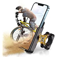 JOYROOM Bicycle & Motorcycle Phone Mount, Aluminum Alloy Bike Phone Holder with 360° Rotation for iPhone 11 12 Pro Max…