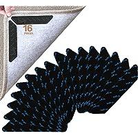 UCIN 16 Pieces Anti-Slip Rug Grippers, Carpet Gripper Mat Reusable Anti Curling Rug Gripper Carpet Underlay Carpet…