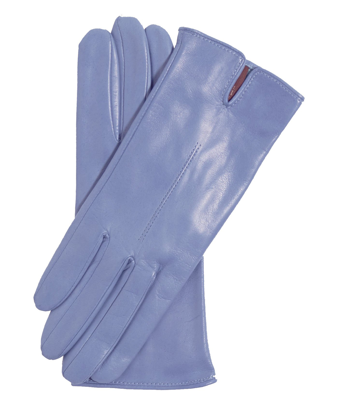 Fratelli Orsini Everyday Women's Italian Silk/Cashmere Lined Leather Gloves Size 7 Color Sky