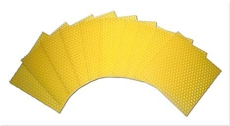 10 Stück Bienenwachsplatten Bienenwachs Für Kerzen Zum Kerzenrollen Und Basteln 100 X 100 Mm Gelb