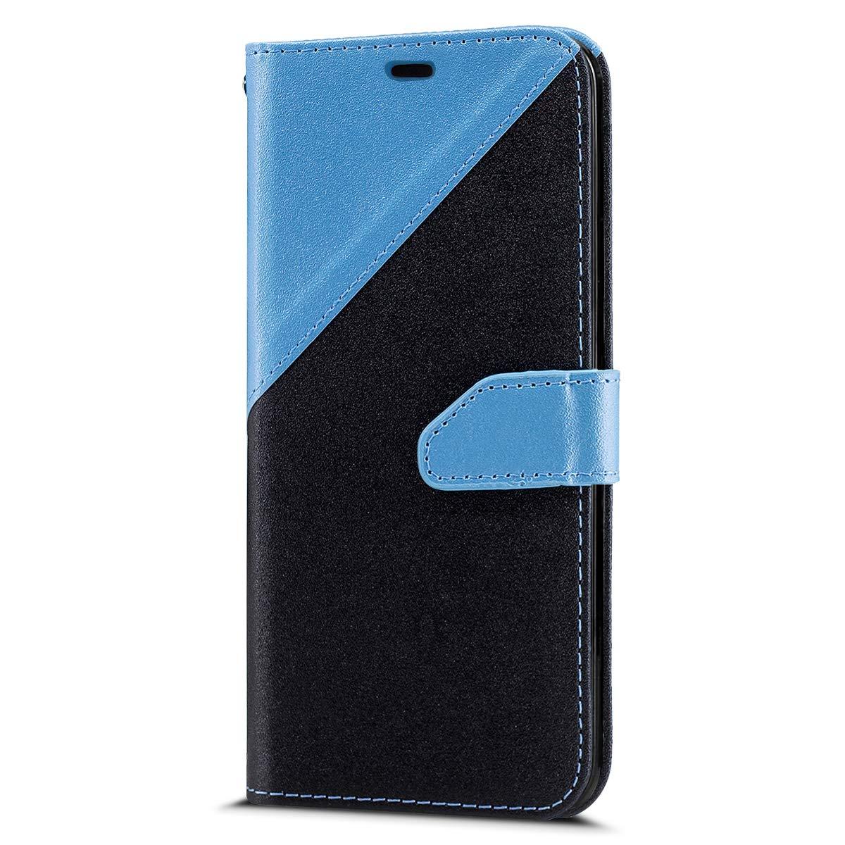 Felfy Coque Huawei Honor 9 Lite,Housse Huawei Honor 9 Lite /Étui en Cuir Flip Premium PU Housse Coque de t/él/éphone en Cuir Couverture Smartphone Poches Portefeuille Case Cover Bumper,Bleu