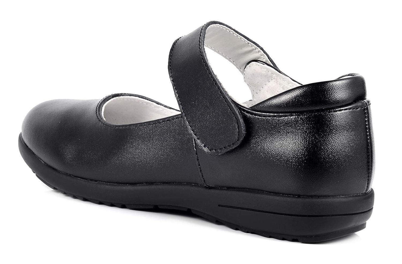 LIYZU Girls Leather Mary Jane School Uniform Shoes Toddler//Little Girl//Big Girl