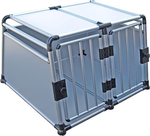 Caja de transporte – Auto Box Jakarta 3 de aluminio con separador: Amazon.es: Productos para mascotas