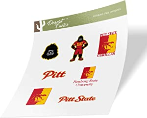 Pittsburg State University Gorillas NCAA Sticker Vinyl Decal Laptop Water Bottle Car Scrapbook (Type 2 Sheet)