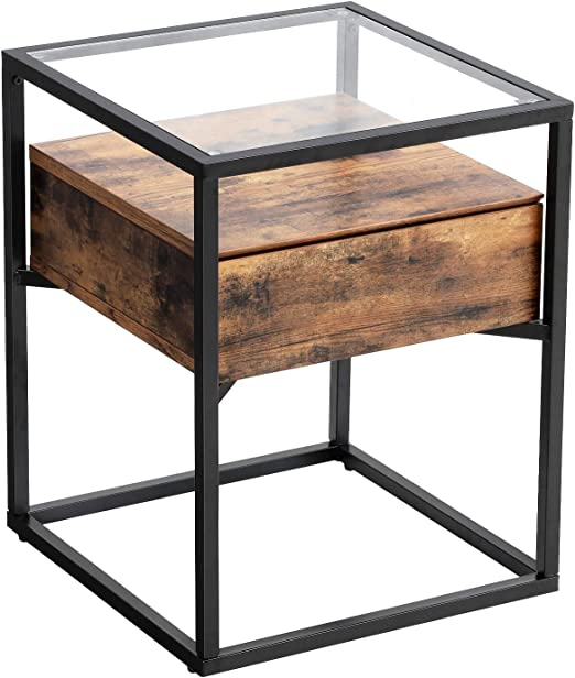 Amazon.com: VASAGLE Industrial Side Table, Nightstand ...
