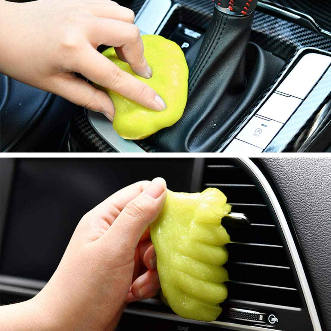 Yellow Yacoto Dust Cleaning Mud for Car Detailing Universal Cleaning Gel Automotive Dust Air Vent Interior Detail Removal Keyboard Cleaner