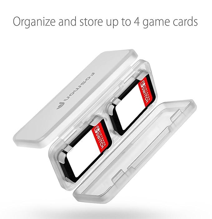 Nintendo Switch Tarjeta de Juego Titular, Fosmon 2 Pack Protective Game Card Caja de Almacenamiento, Cada uno con 4 Ranuras de Cartucho para Juegos de ...