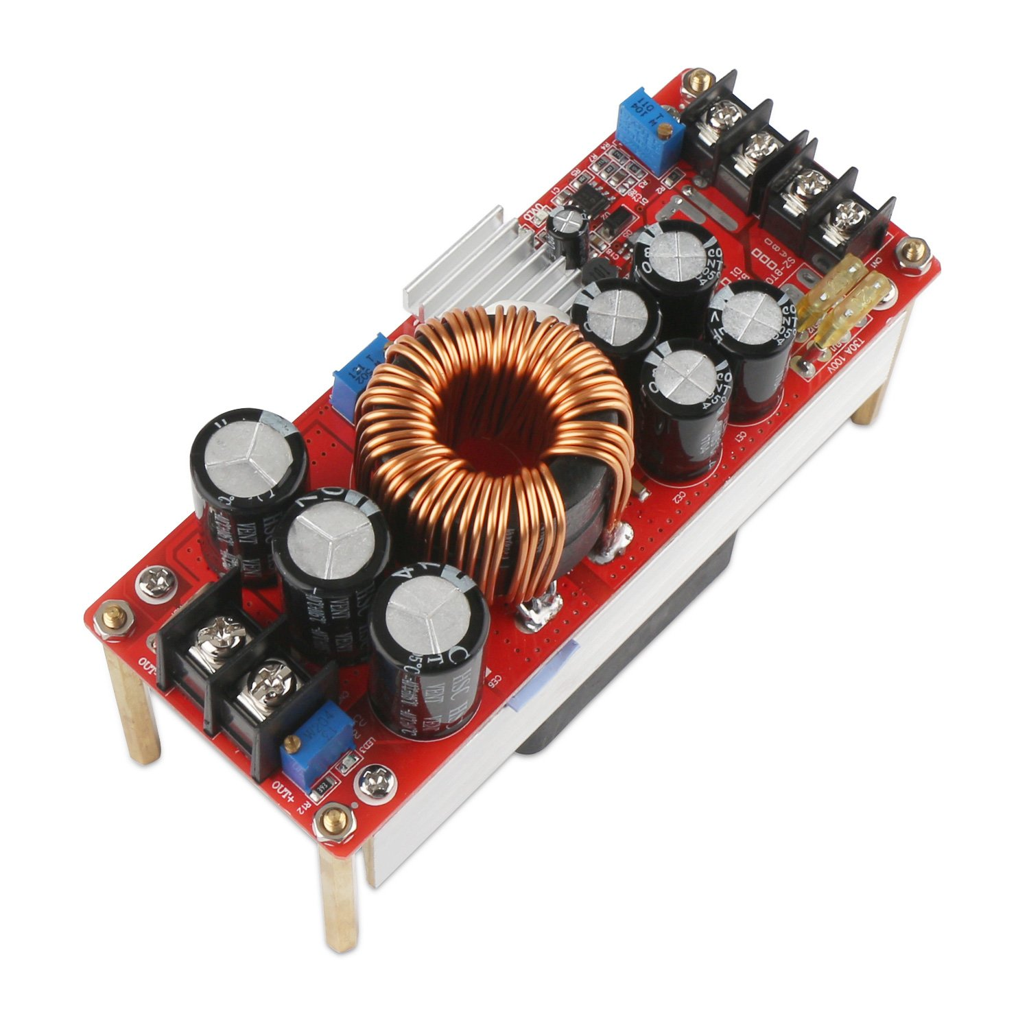 Boost Voltage Converter, DROK 1500W Voltage Regulator Booster DC 10V-60V 12V Step Up to DC 12V-90V 24V 30A Power Supply Module High Power Volt Transformer Circuit Board with Cooling Fan by DROK (Image #7)