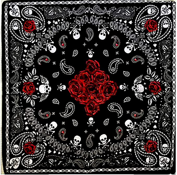 Acheter foulard echarpe bandana tete de mort online 18