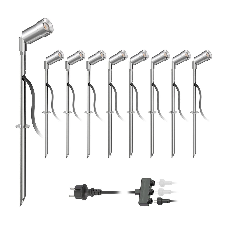 parlat LED Gartenstrahler Spico mit Erdspieß für außen IP44 68lm warm-weiß 3er Set LEDs Com GmbH LC-L-019-WW
