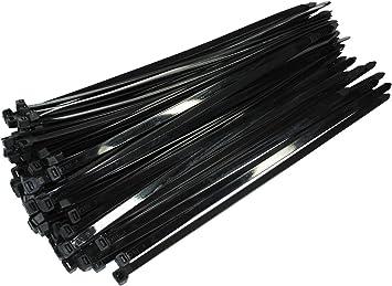 100 Stück Profi Kabelbinder Schwarz Industriequalität 450 Mm X 7 6 Mm 54 4 Kg Zugkraft Nylon Cable Ties Für Industrie Pc Garten Xxl Heavy Duty Stark Von Damstone Baumarkt