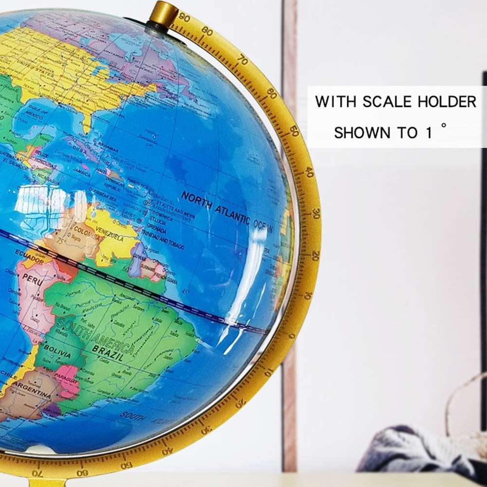 Globes of the World with Stand USB 2 in 1 LED Desktop World Globe ...