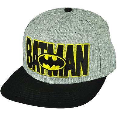 Batman - Logo en Nombre Lana Gorra: Amazon.es: Ropa y accesorios