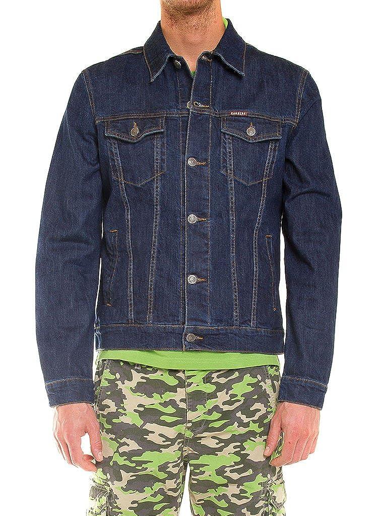 Carrera Jeans - Abrigo Jeans 450 para Hombre, Estilo Western, Tejido Extensible, Ajuste Regular, Manga Larga