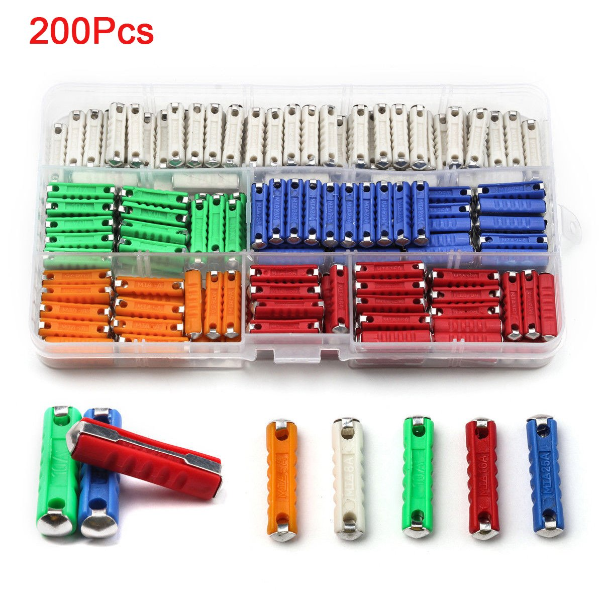 Amazon.com: Karcy 200 Pcs Continental Car Fuses Torpedo Type Sets For  Vintage Classic Cars Old Style: Automotive