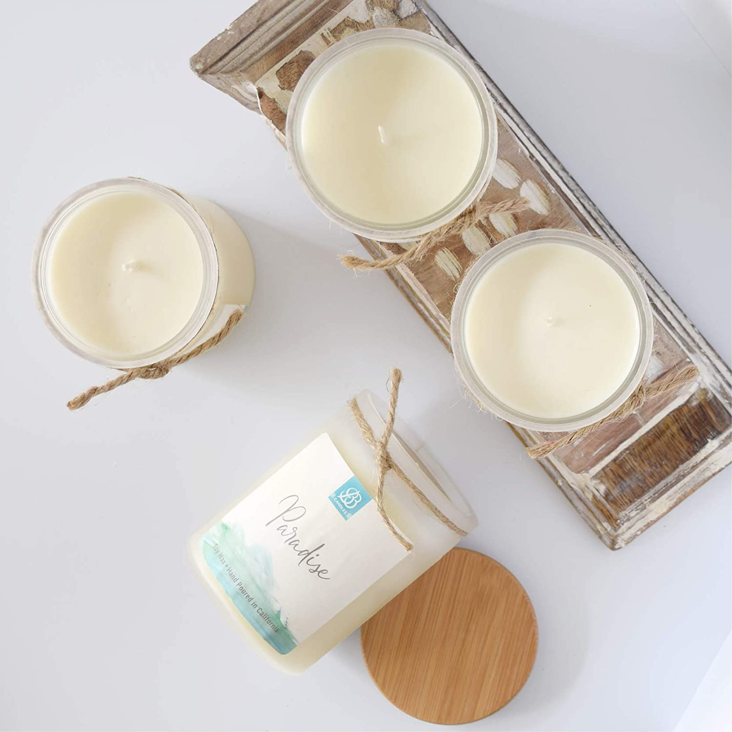BB Candles Coastal Essentials Natural Soy Hand Poured Candle