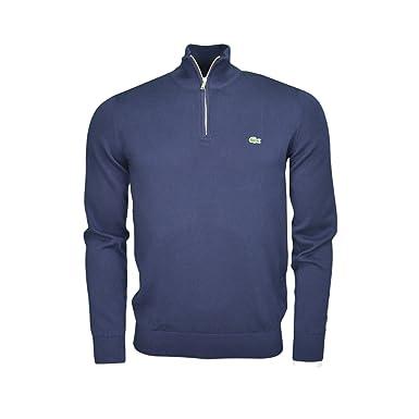 81a5f893d3 Lacoste Pull col Montant zippé Bleu Marine pour Homme: Amazon.fr ...